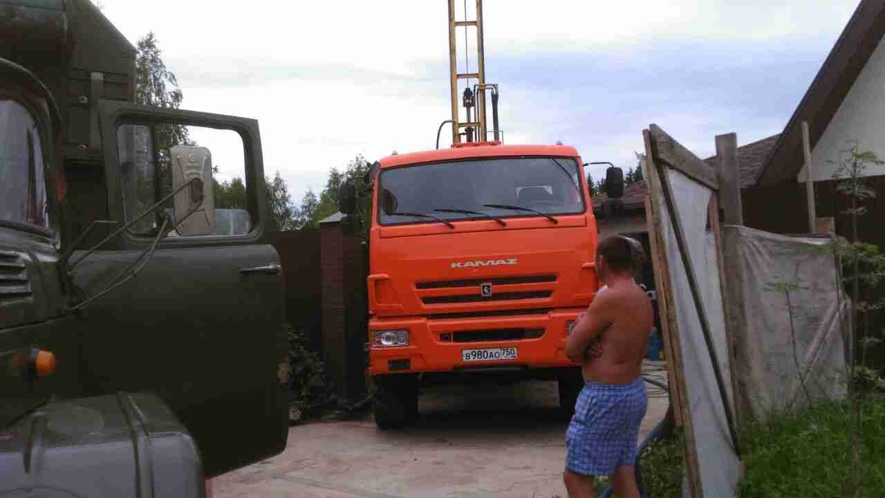 Фотоотчет бурения и обустройства скважины в Одинцово
